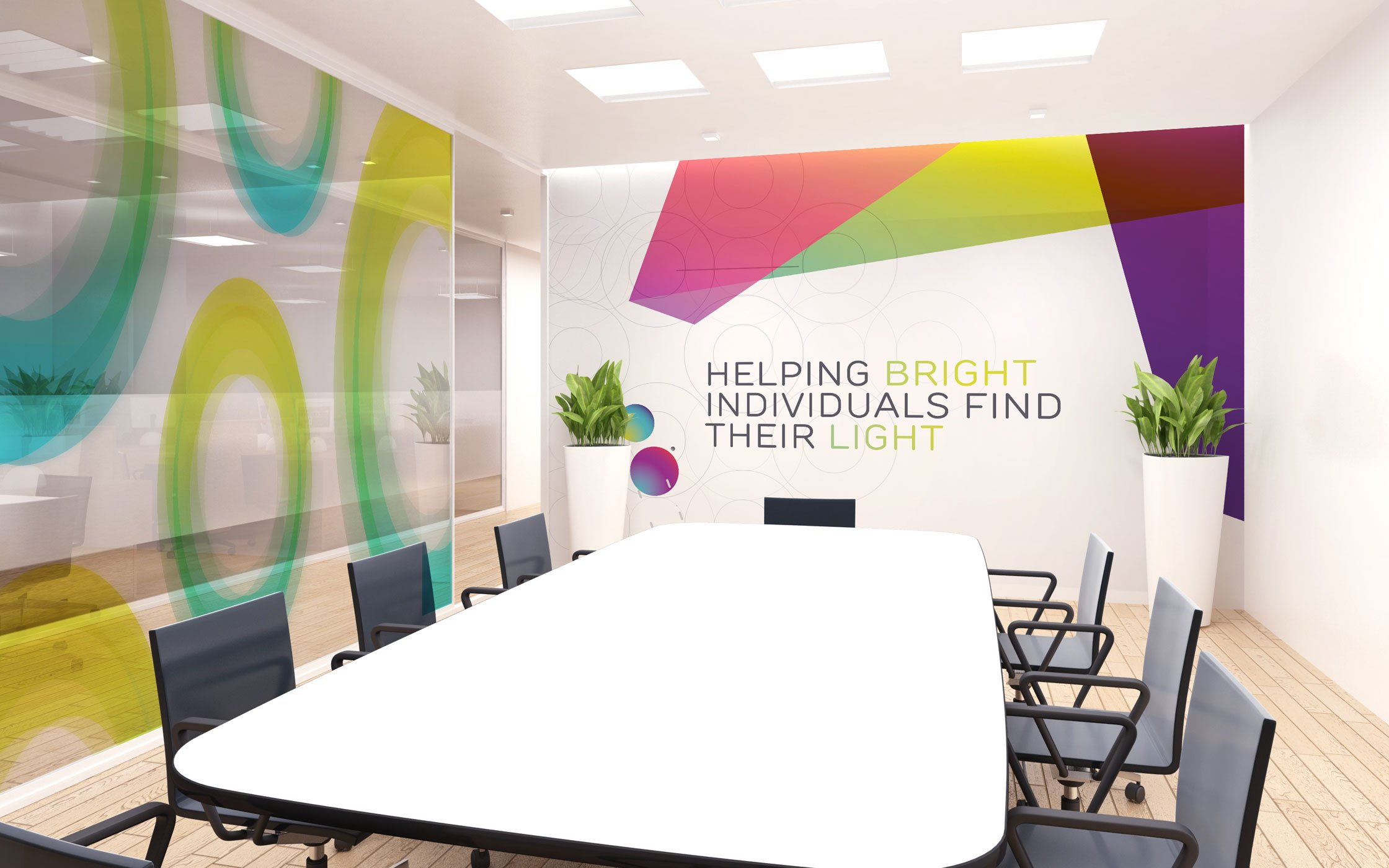 Interior meeting space designed for Inuous