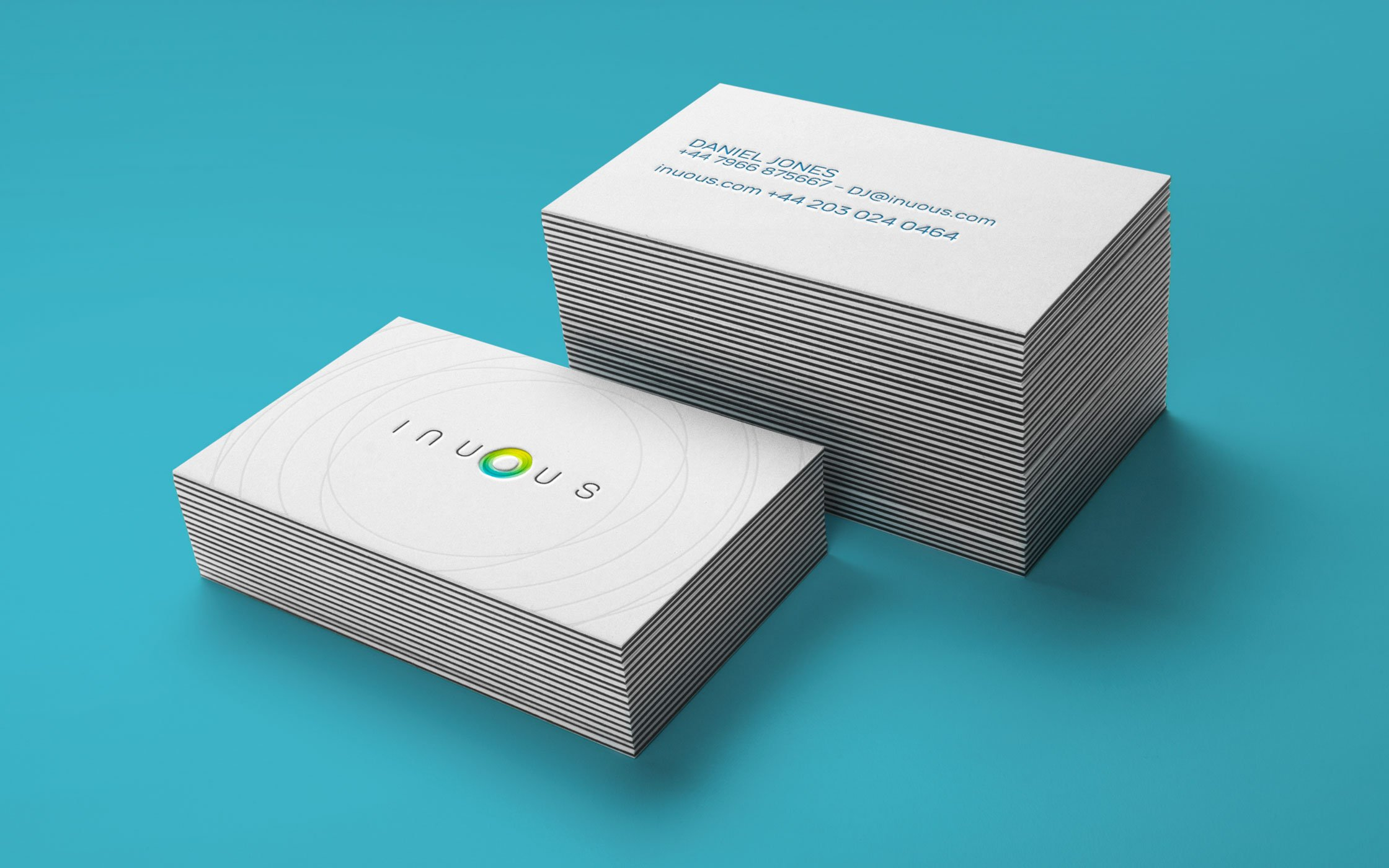 Business cards designed for Inuous