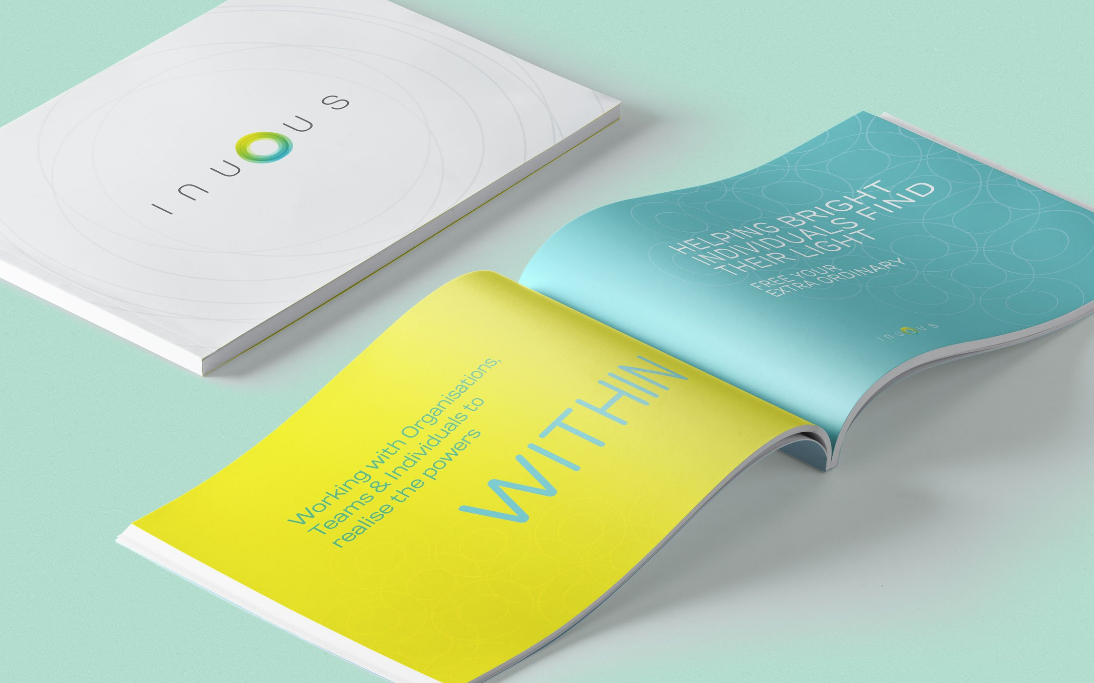 Printed brochure designed for Inuous
