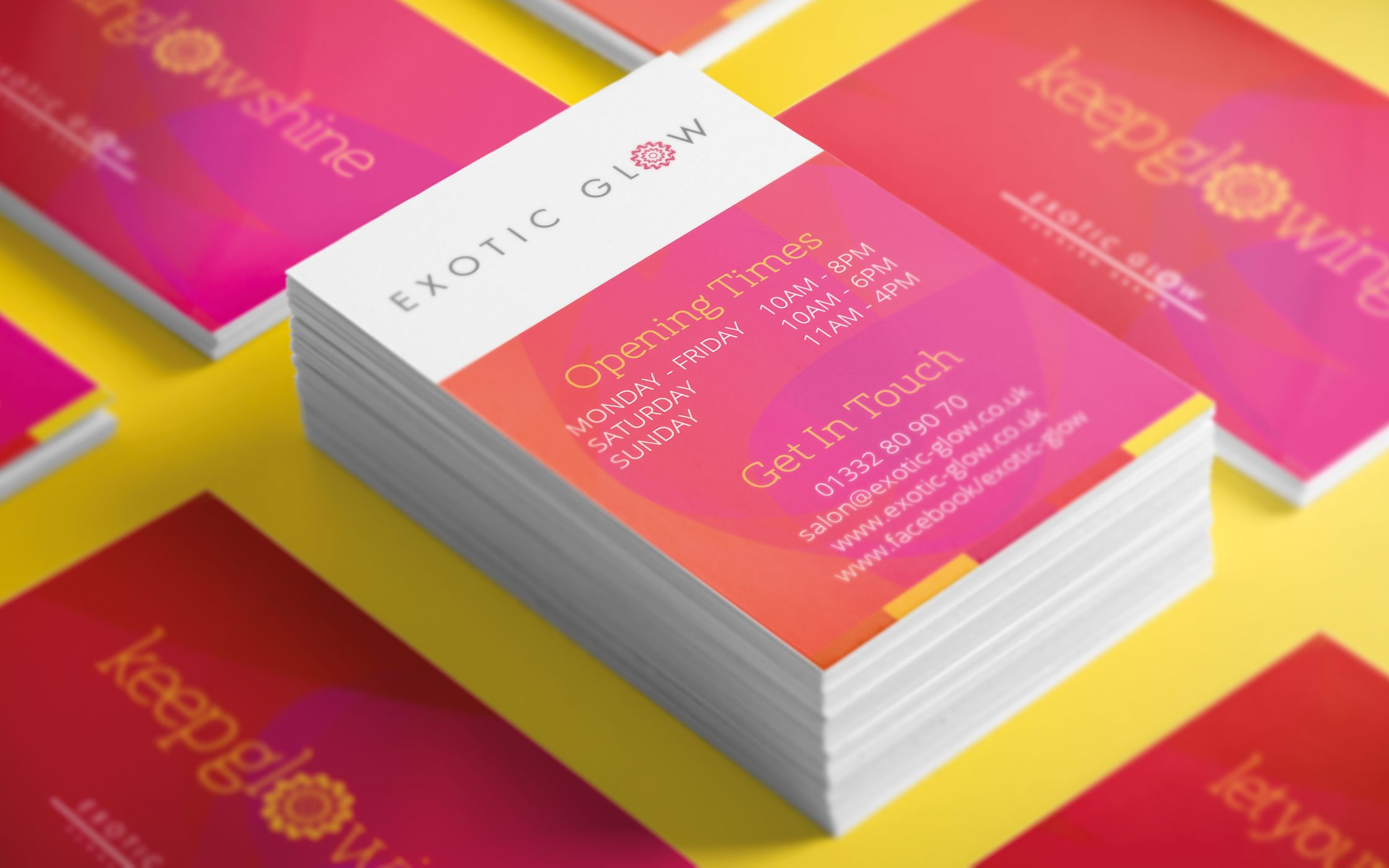 Appointment cards for Exotic Glow