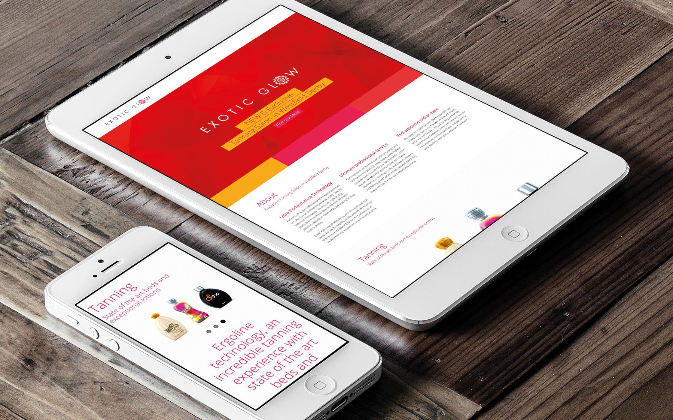 Responsive website for Exotic glow