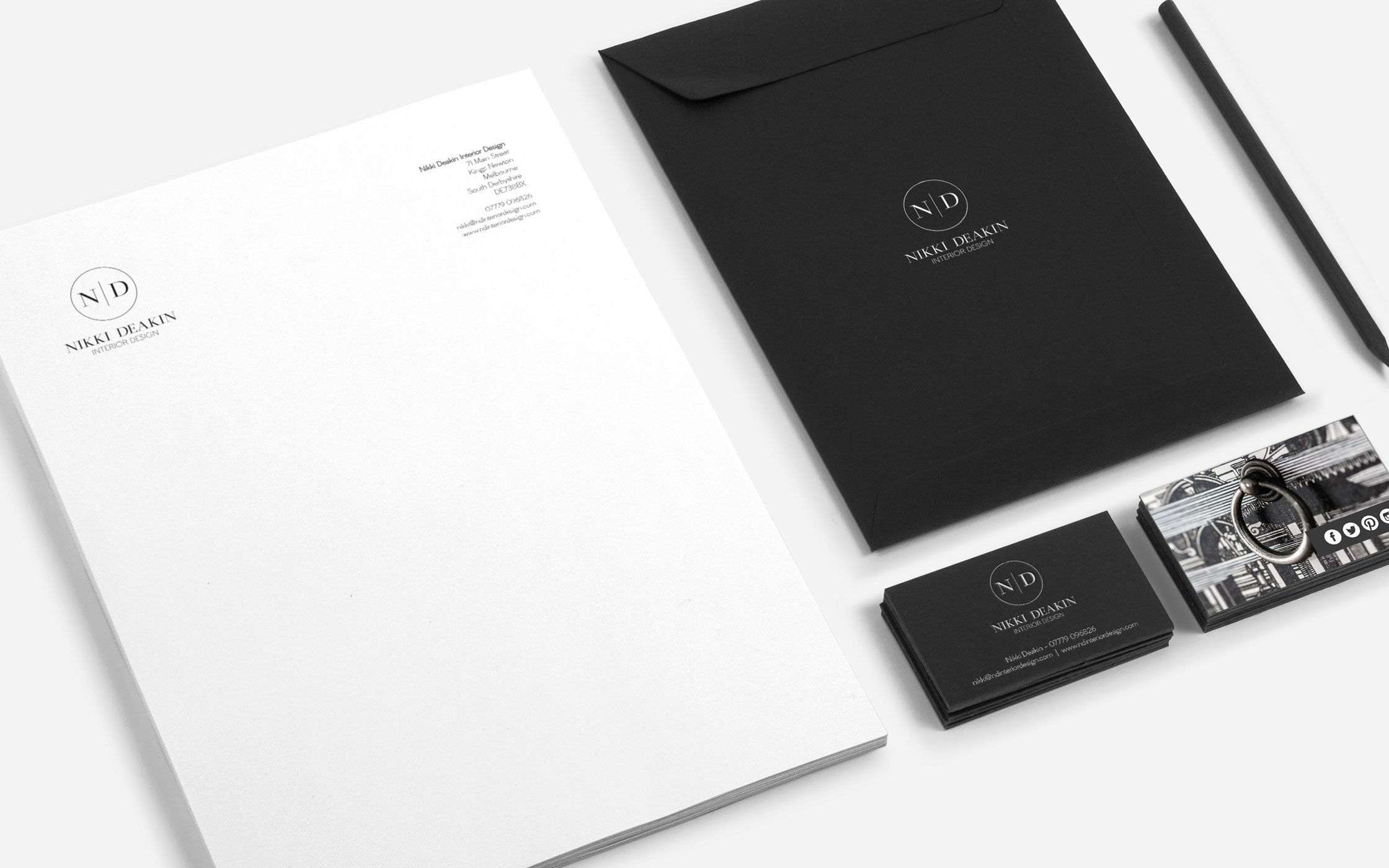 Corporate stationery - ND Interior Design
