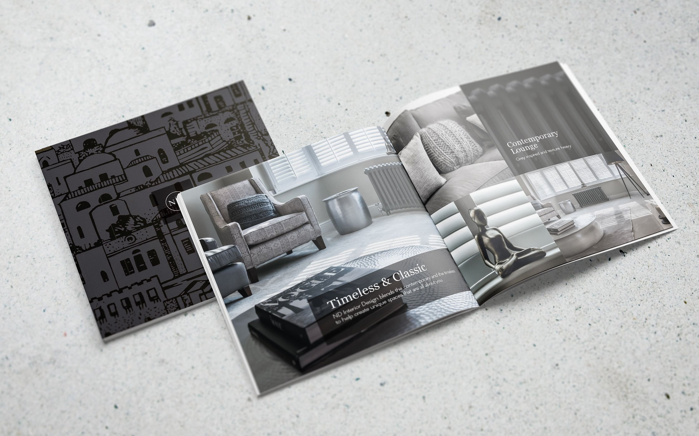 Printed brochure for ND Interior design