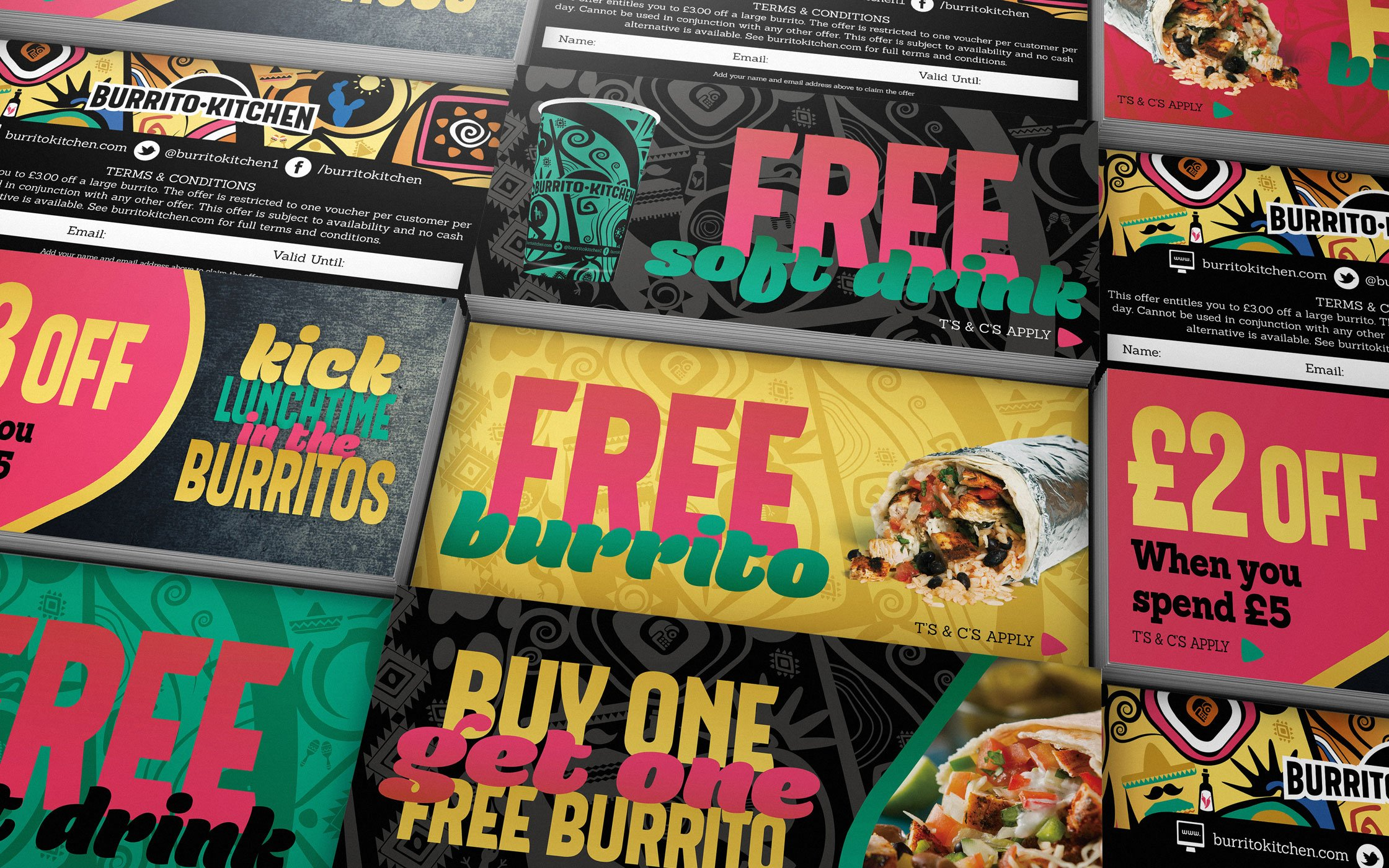 Marketing materials designed for Burrito Kitchen