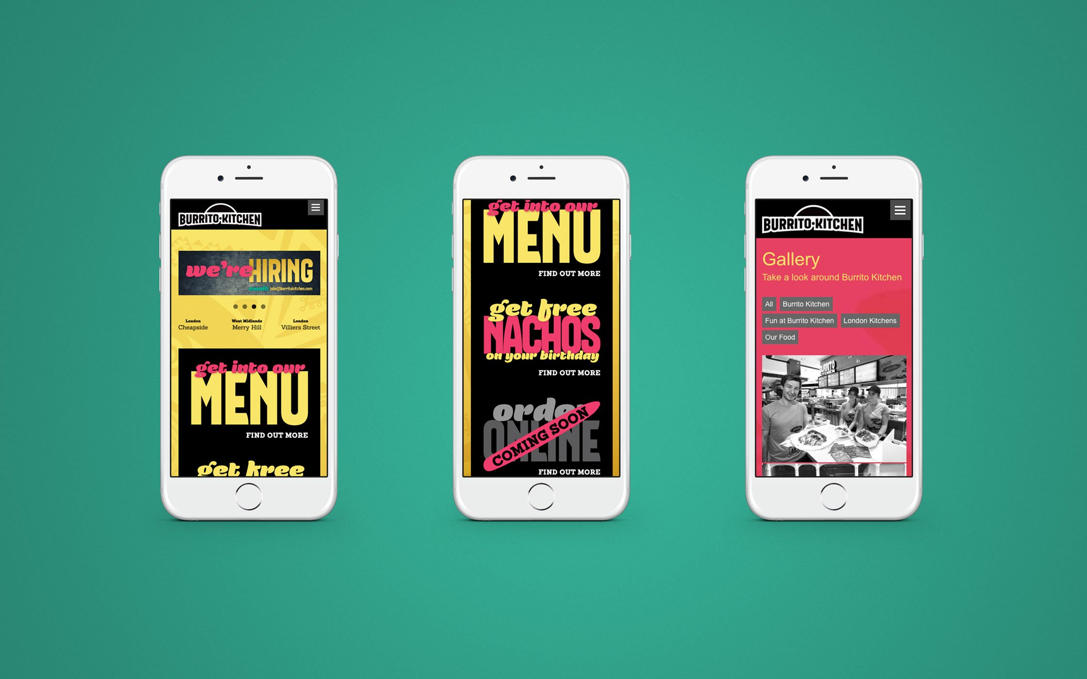 Responsive website developed for Burrito Kitchen